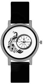 Octus Peacock Black Colour Round Dial Analog Watch For