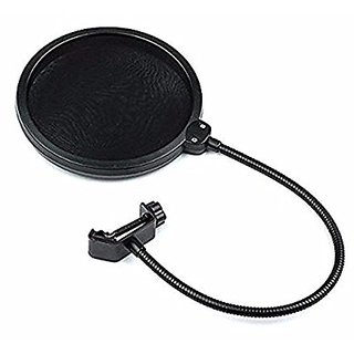 Aeoss Double Layer Studio Microphone Mic Wind Screen Pop Filter/ Swivel Mount / Mask Shied For Speaking Recording