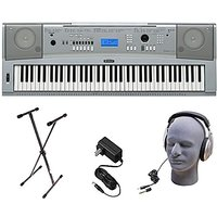 Yamaha DGX230 76-Key Digital Piano Pack with Stand, Power Supply, and Headphones