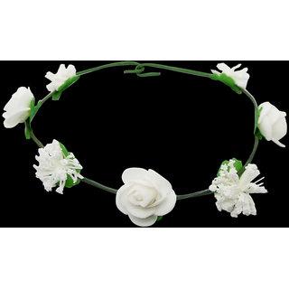 Buy The99jewel By Jewelmaze White Tiara Flower Crown Aab1265 Online
