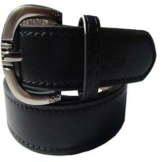 Star Wood Women's Black Leather Formal Belt