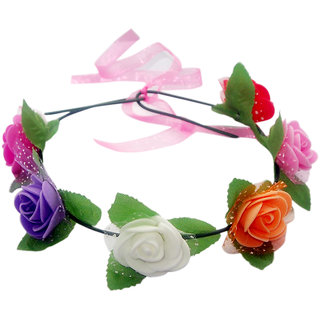 The99Jewel by JewelMaze Multicolor Tiara Flower Crown -AAB1261