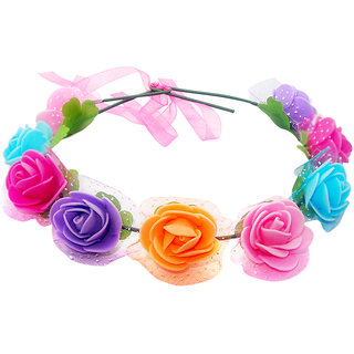 The99Jewel by JewelMaze Multicolor Tiara Flower Crown -AAB1254