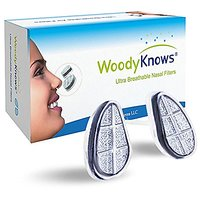 WoodyKnows Ultra Breathable Nose Nasal Filters (New Model) to Block Hay Fever, Pollen & Dust Allergies, Pet Hair and Dander, Allergy Relief (2 Filter Frames and 6 Pairs of Replacement Filters)(III-S)