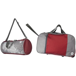 3G Multicolor Fabric Duffel Bag (2 Wheels)