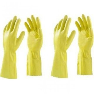 House hold Hand Gloves Gloves For Washing Cleaning Washroom Kitchen (Pack of 2 Pair)