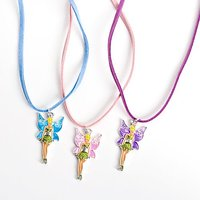 12 Girls Necklaces With Fairy Pink Purple And Blue Tink
