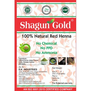 Shagun Gold 100 Natural Red Henna ( Chemical Free ) 100g