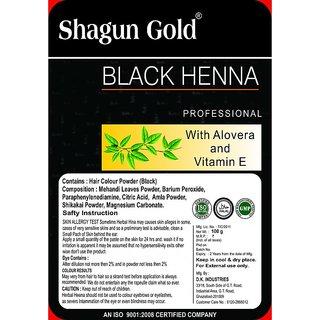 Shagun Gold Hair Colour Powder Black Henna 100g
