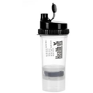 Smart Shaker 500ml With Extra Compartment (White) 500 ml Shaker