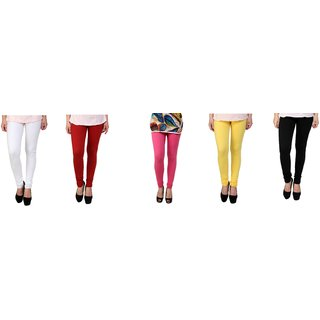 S Redish Lycra Leggings Pack of 5