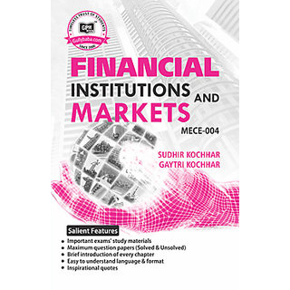 MECE004 Financial Institutions and Markets (IGNOU Help book for MECE-004 in English Medium)