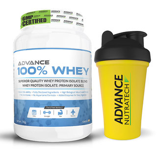 Advance Nutratech 100 Whey 1kg( 2.2 lbs) vanilla with Free Shaker