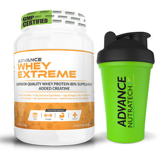 Advance Nutratech Whey Extreme Protein Powder 2Lbs. Chocolate + SHAKER