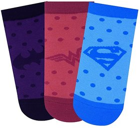 Justice League Women's Low Cut Socks - Pack of 3
