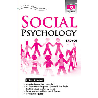 BPC006 Social Psychology (IGNOU Help Book for BPC-006 in English Medium)