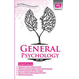 BPC001 General Psychology (IGNOU Help Book for BPC-001 in English Medium)