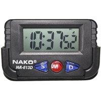 Nako NA-613D Car (Black) Clock , Table Clock , Stop Wat