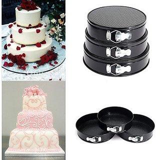 ROUND SPRING FORM CAKE MOULD - SET OF 3PCS