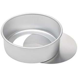Aluminium Round Cake Mould - Loose / Removable Bottom - 8 Inches for Baking approx 1kg cake