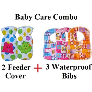 Baby Bibs Multi Color with Feeder Cover (Pack of 5)CODEAc-7992