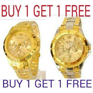 Rosra Gold watches for men- combo by 7star