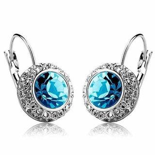 Fashion Shiny Full Austrian Rhinestone Crystal Earring For Women