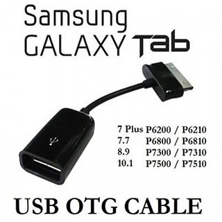 OTG to USB Female Cable Lead for Samsung Galaxy Tab 2 P3110 to Flash Drive Black CODELY-1650