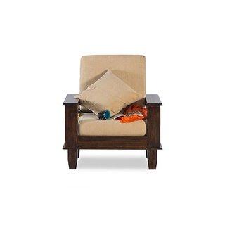 BM Wood furniture 1 Seater Folding Sofa Set ( Natural)