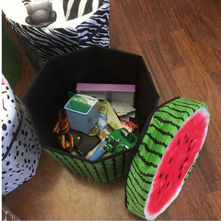 Fruit Folding Storage Cube Foot Stool Seat Footrest Fordable Storage