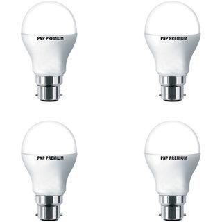 PNP Premium 9 Watt White Led Bulb (Pack of 4)