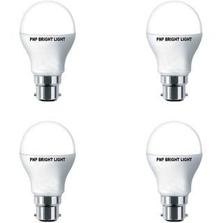 PNP BrightLight Guarranted 9 Watt White Led Bulb (Set of 4)
