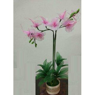 Handmade Decorative Pink Flower Pot Vase