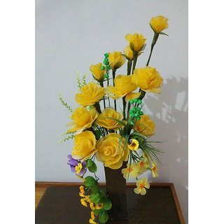 Handmade Decorative Yellow Flower Pot Vase
