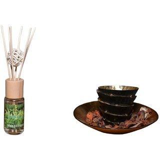 Diffuser Set Vanilla with sticks  Decorative Ball, Natural Fragrances