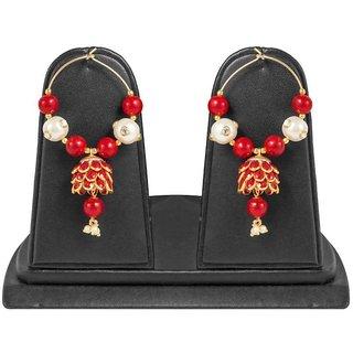 Jewels Gold Alloy Party Wear Stylish Stylish Simple Fancy Jhumki Earring Set For Women  Girls