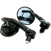 Motorcycle Round 7/8 Handle Bar End Rear View Side Mirror For bullet