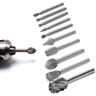 DIY Crafts  10xRotary File Electric Grinding Polishing Head Engraving Cuter Woods