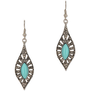 Fayon Trendy Costume Blue Gemstone Vintage style Drop Earrings