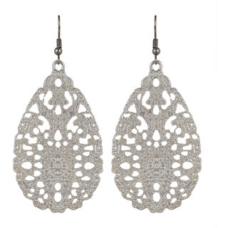 Fayon  Trendy Costume Beautifully Carved White Drop Earrings
