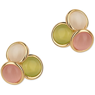 Fayon Party Style Diva Multicolour Gemstone Stud Earrings