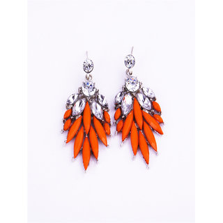 Fayon Chunky Fashion Enchanting  Orange Chandelier Earrings