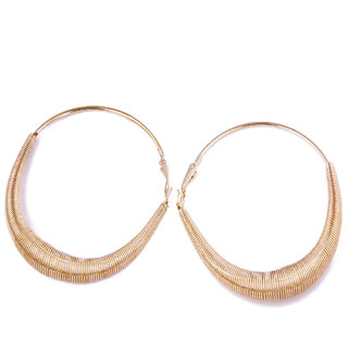 Fayon Fabulous Staement Graceful Golden Hoop Earrings