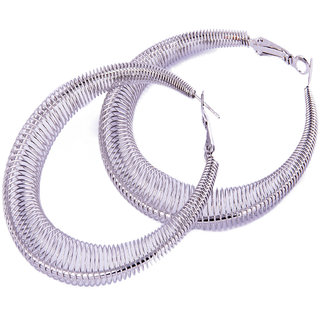 Fayon Contemporary Statement Delicate Silver Hoop Earrings