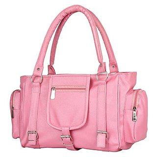 Chhaya Casual Pink Plain Handbag