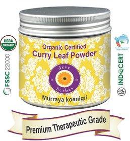 Deve Herbes Organic Certified Curry Leaf Powder 200gm - Murraya koenigii