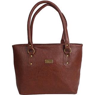 D-Rock Brown Plain Handbag