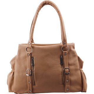 Brown Plain Handbag