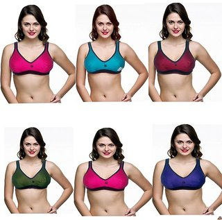 Women Hosiery Sports Bra 6pc