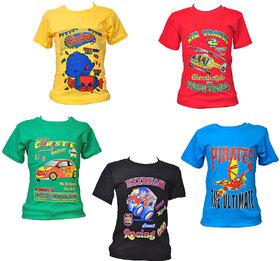 Pari & Prince Multicolor 100 Cotton Shirt Set Of 5